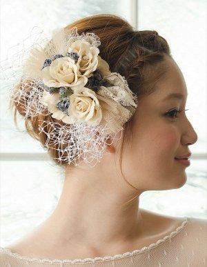 花嫁 ヘアアレンジ 編み込み