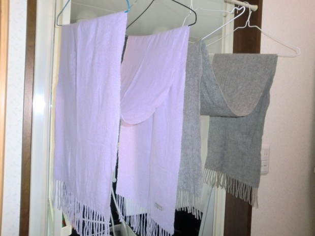 マフラー ストール 洗濯